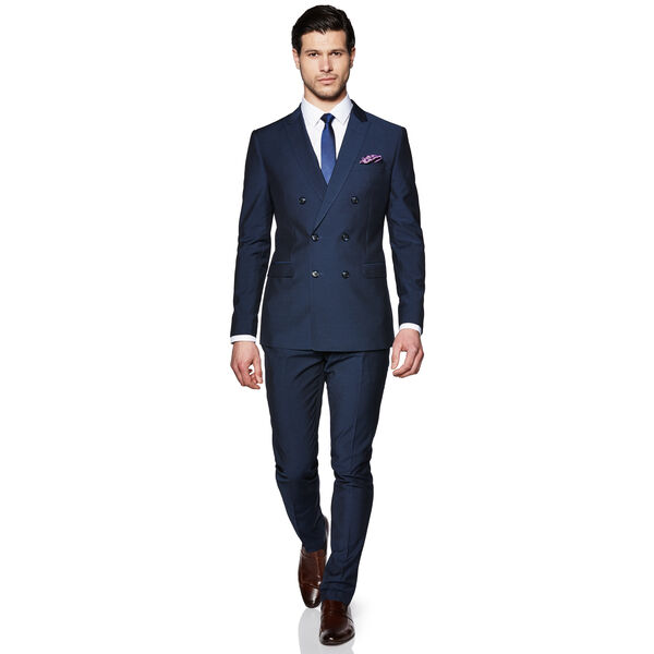 Kingsway - New Navy - Double Breasted Suit Jacket | Politix