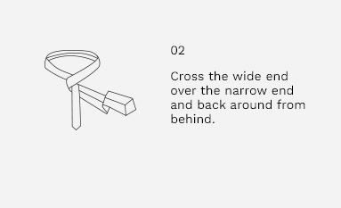 Half Windsor Knot Step 2
