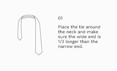 Half Windsor Knot Step 1