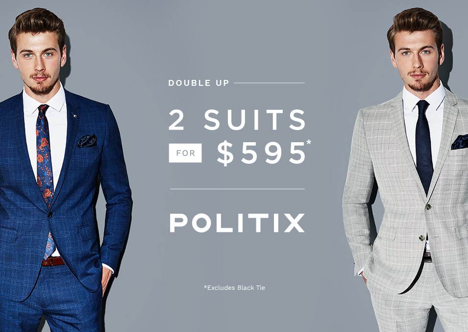 2 Suits for $595