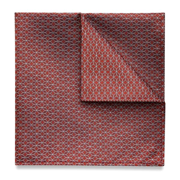 CACEY POCKET SQUARE, Orange, hi-res
