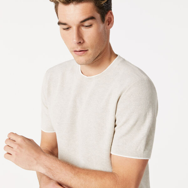 Levin Knitted T-Shirt, Oatmeal, hi-res