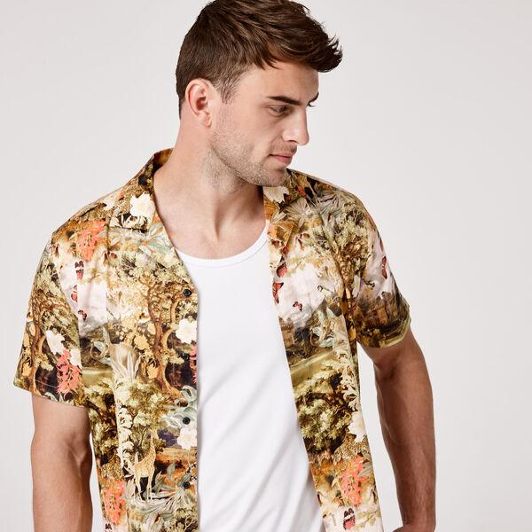 Fantasy Short Sleeve Shirt, Multi Floral, hi-res