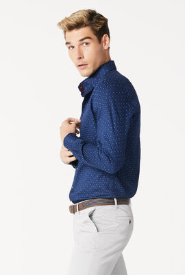 MOSINA SHIRT, Navy/White, hi-res