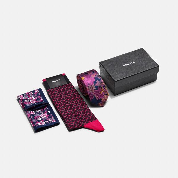 3 Piece Accessory gift box, Fuchsia, hi-res