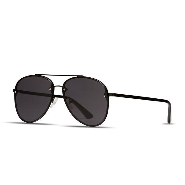 Mikael - Black - Large Frame Aviator Sunglasses   Politix