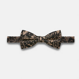 MOSELE BOW TIE, Black/Gold, hi-res