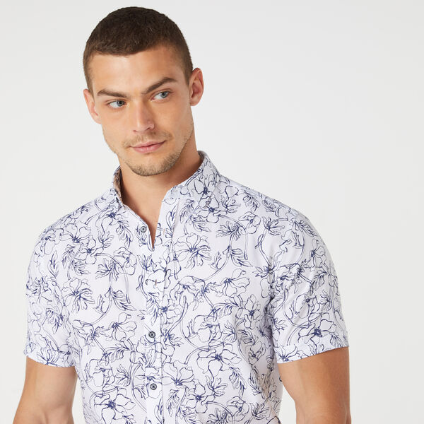 SWINFORD SHORT SLEEVE SHIRT, White/Navy, hi-res