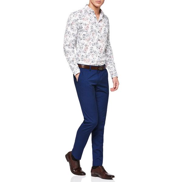 Shoreditch Shirt, White/Navy, hi-res