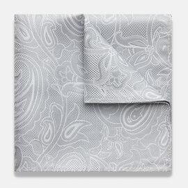 ALTILIA POCKET SQUARE, Silver, hi-res