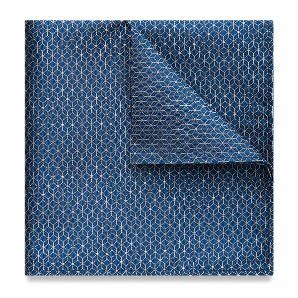 CACEY POCKET SQUARE, Blue, hi-res