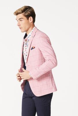 KINGSWOOD BLAZER, Pink Check, hi-res
