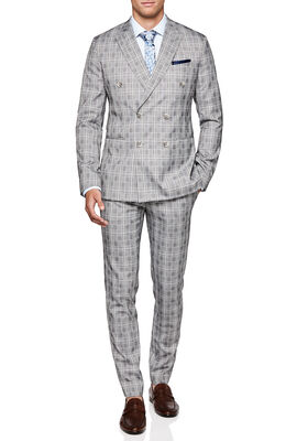 STAVELEY SUIT JACKET, Beige Check, hi-res