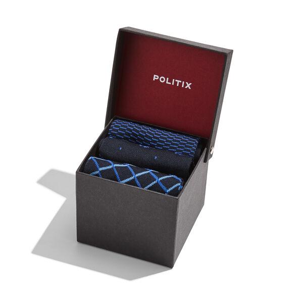 SOCK GIFT BOX, Royal/Navy/Blue, hi-res