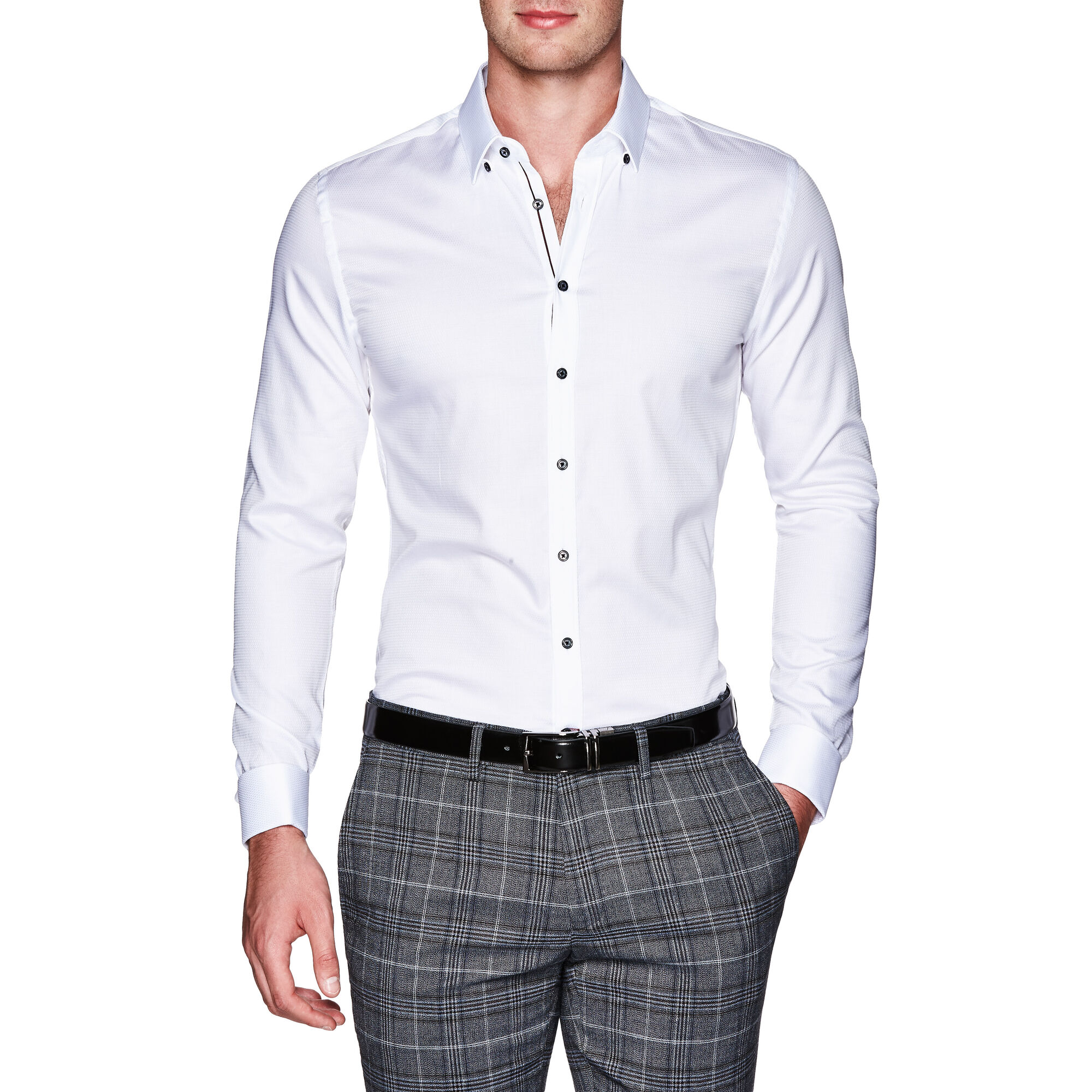 Sully - White - French Cuffed Slim Shirt | Politix