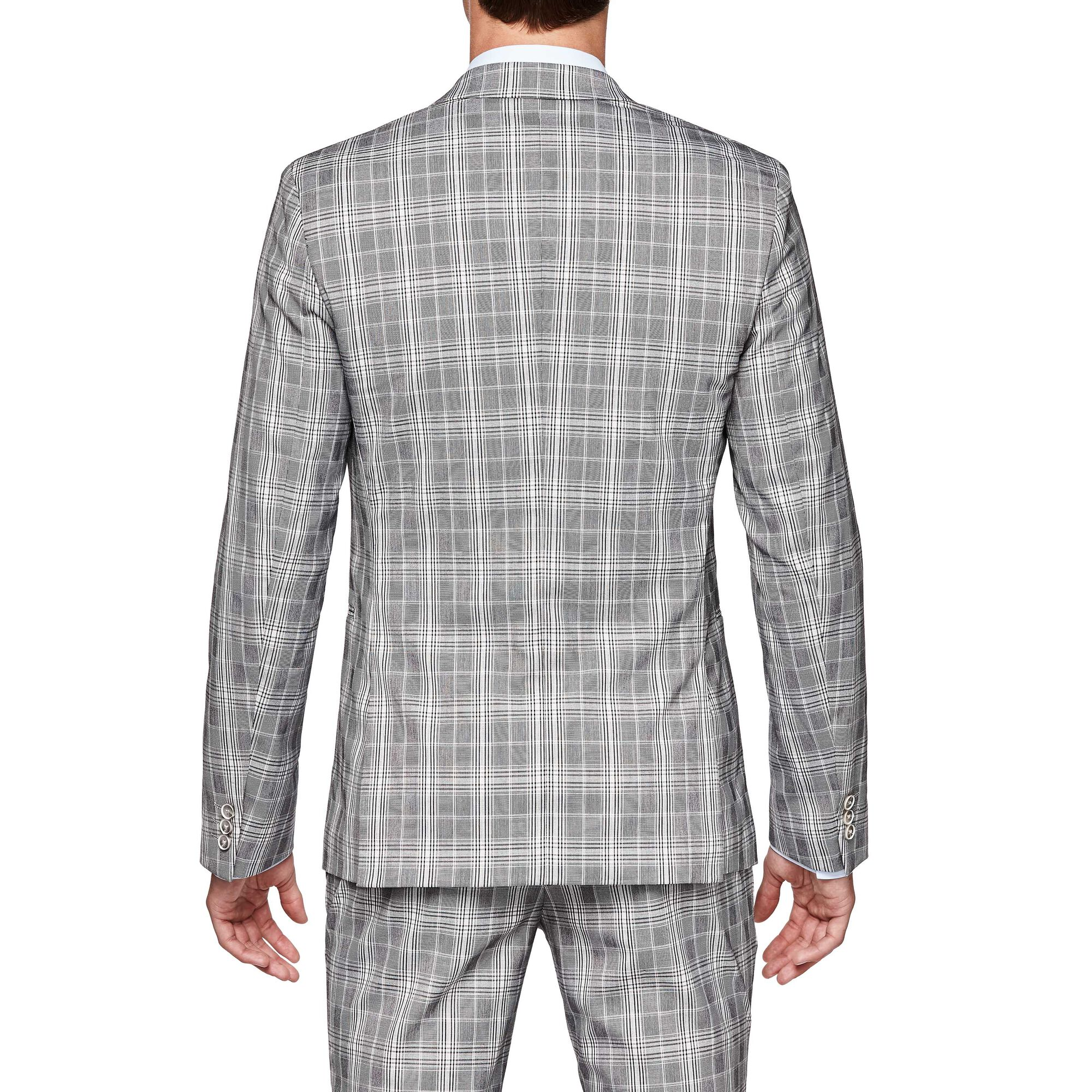 768c64ca Staveley - Beige Check - Double Breasted Check Suit Jacket | Politix