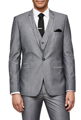 FEDER SUIT JACKET, Grey, hi-res