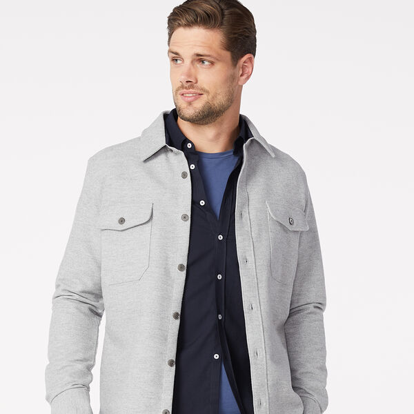 RUSHWORTH OVERSHIRT, Light Grey Marle, hi-res