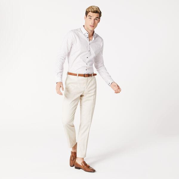 Sherwin Shirt, White/Burgundy, hi-res