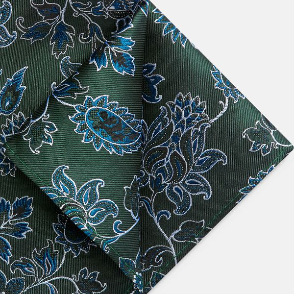 CORVARO POCKET SQUARE, Green, hi-res