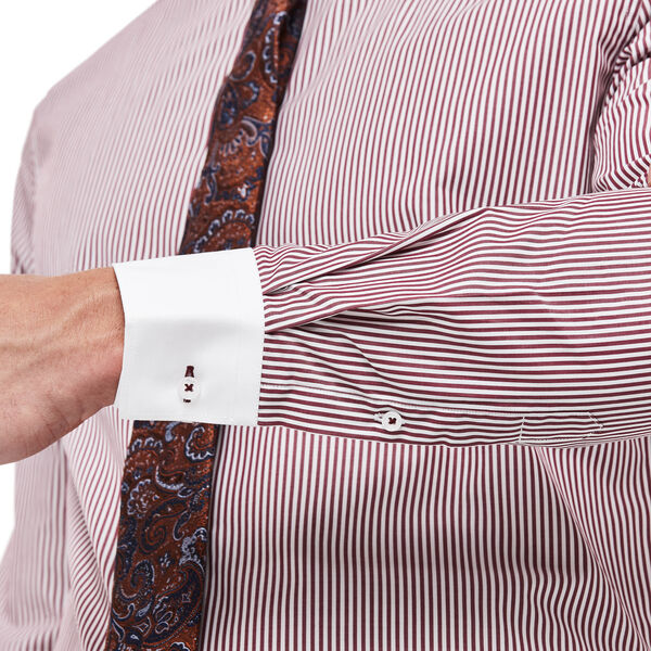 Leyton Shirt, White/Burgundy, hi-res