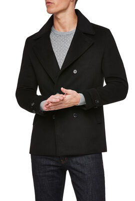 EARNEST COAT, Black, hi-res