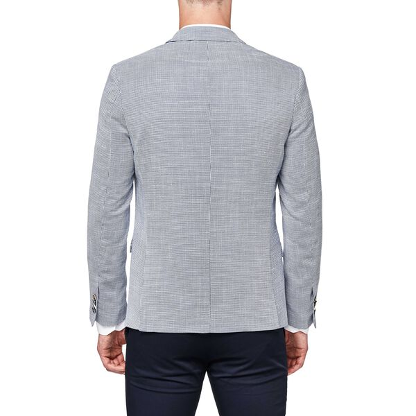 Westbourne - Blue/White - Houndstooth Knit Blazer | Politix