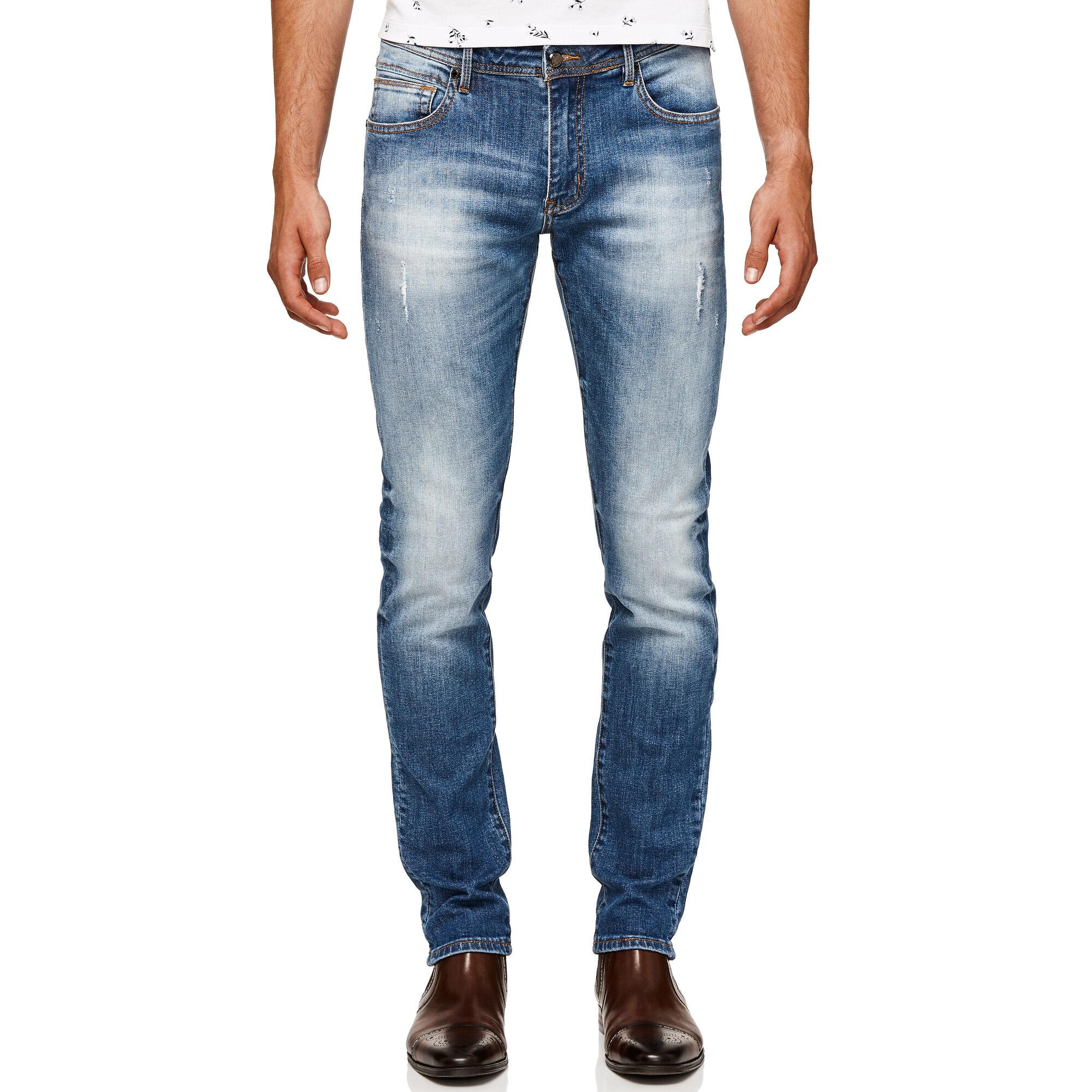 e4581531793c Liiam - Indigo - Organic Cotton Slim Denim Jeans | Politix