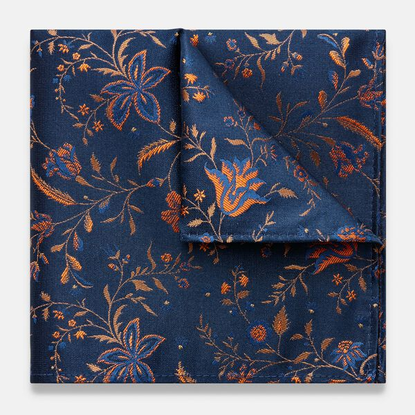 LINERA POCKET SQUARE, Orange, hi-res