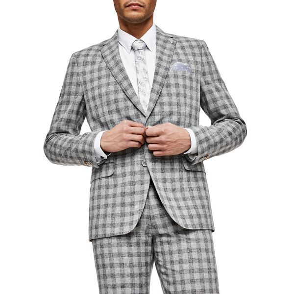 ZANETTI, Grey Check, hi-res