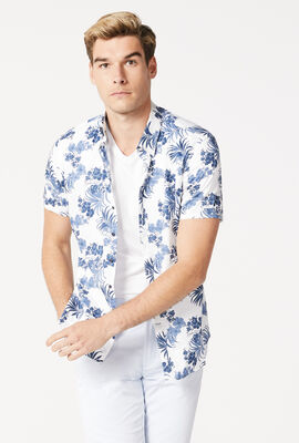 TEMPIO SHORT SLEEVE SHIRT, White/Blue, hi-res