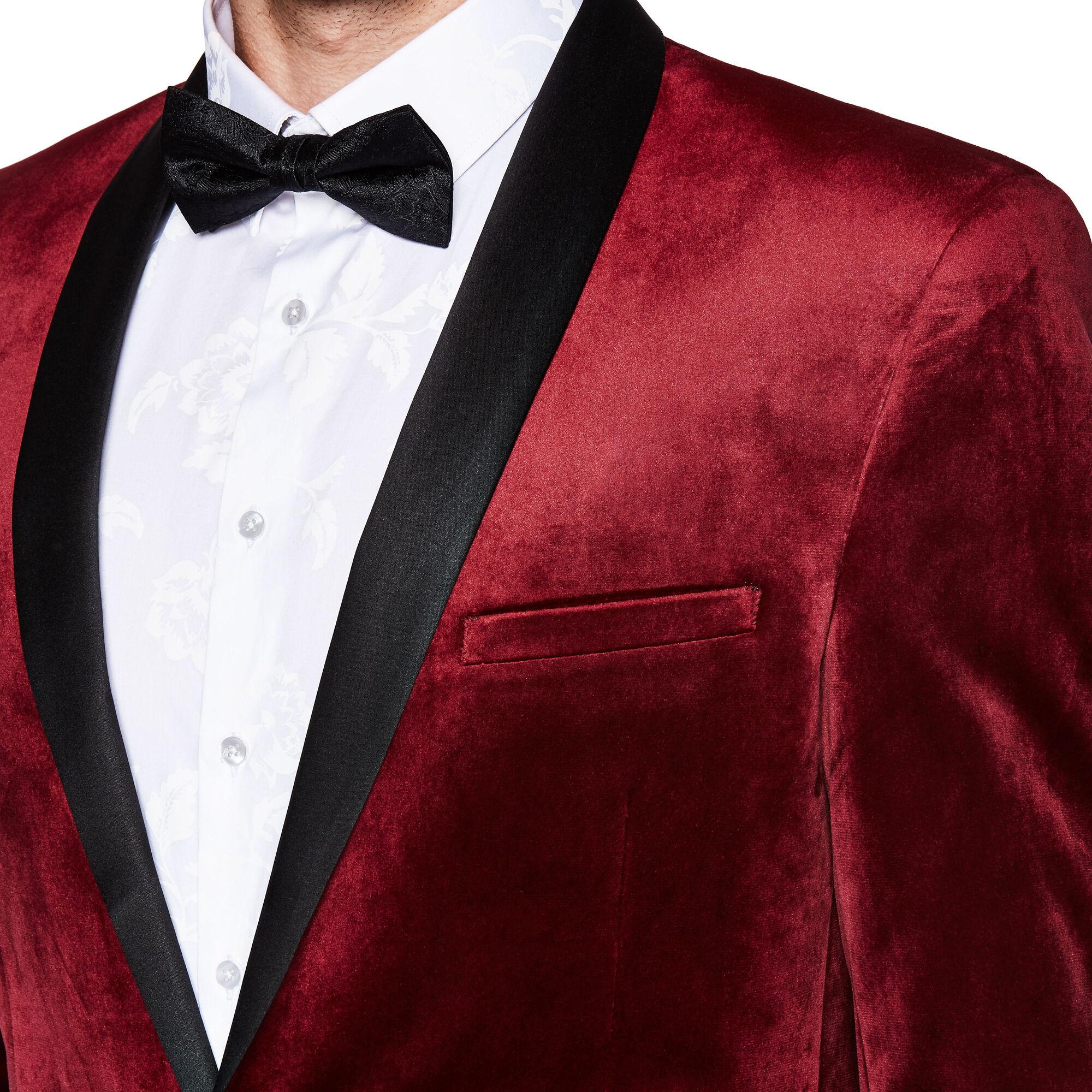 c21a574271d Sorren - Burgundy - Slim Velvet Tuxedo Jacket   Politix