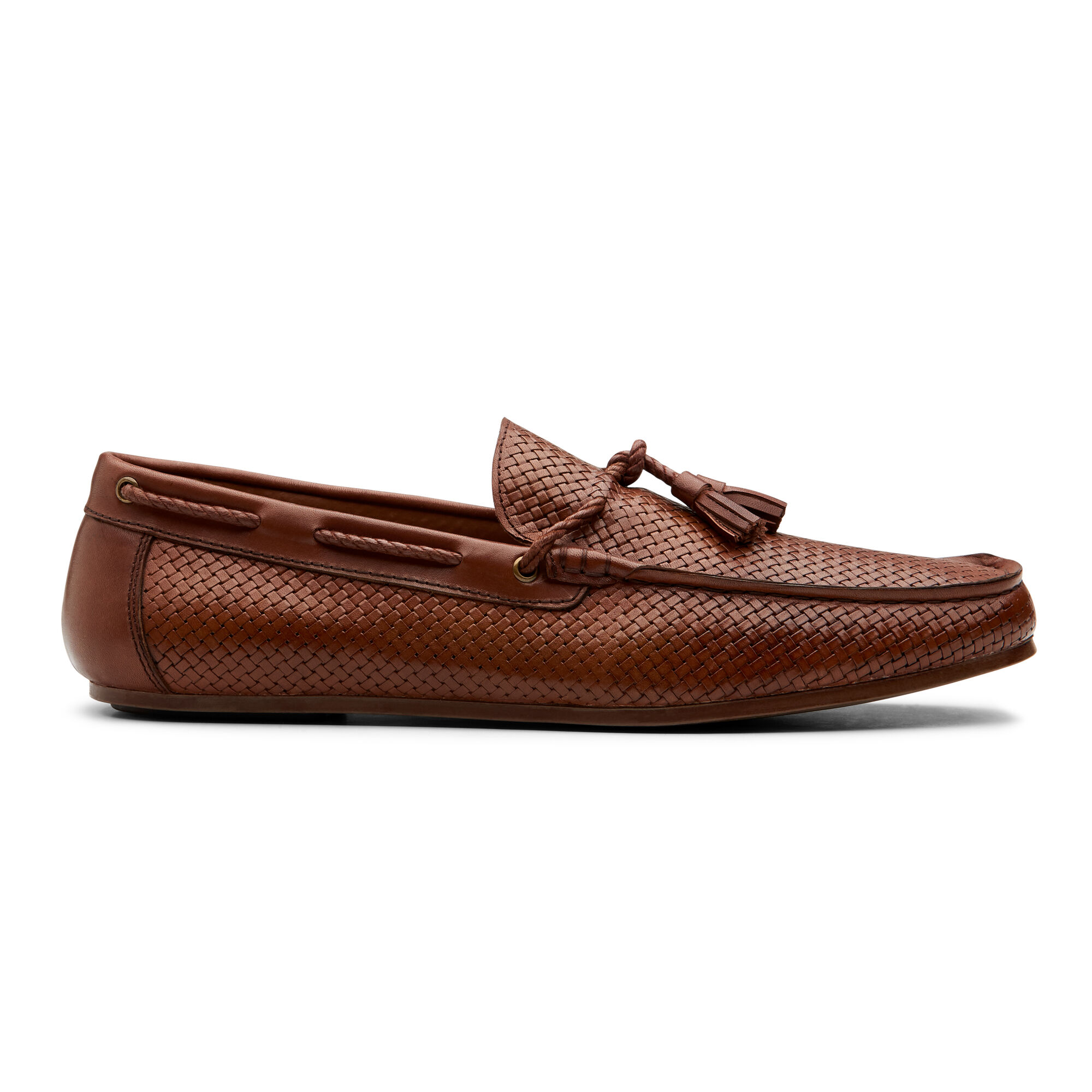501cfe46aec Adriell - Cognac - Woven Leather Loafers | Politix