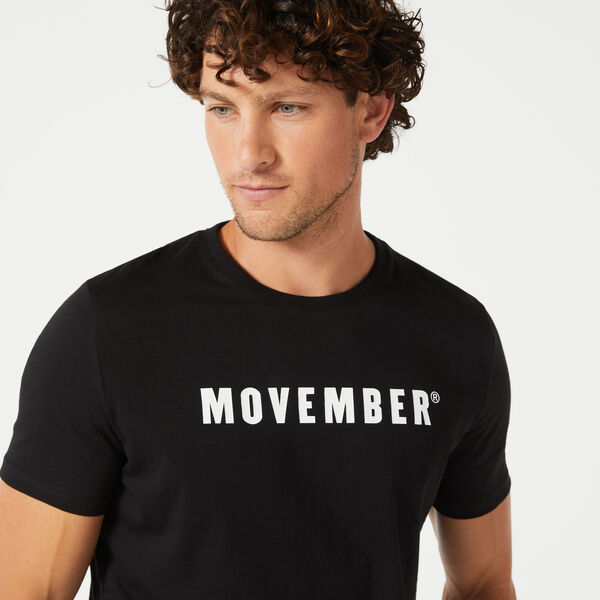 2020 MOVEMBER CAMPAIGN TEE T-SHIRT, Black/White, hi-res