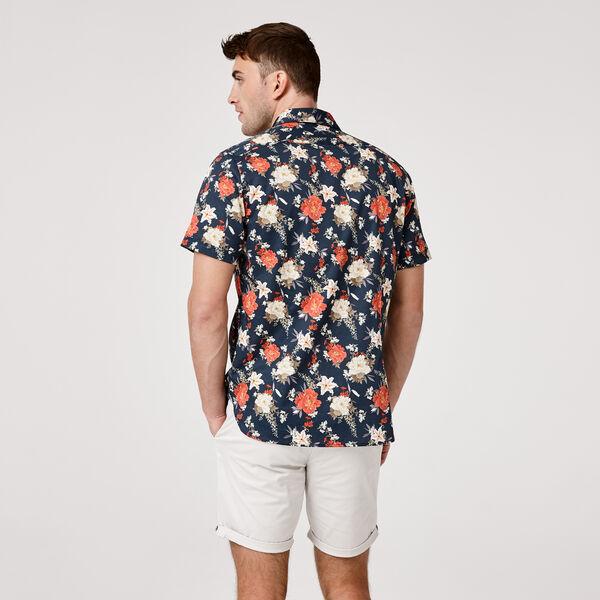 Sennori Short Sleeve Shirt, Navy/Multi, hi-res