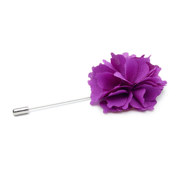 Niki Flower Lapel Pin, Fuchsia, hi-res