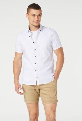 Texel Short Sleeve Shirt, White/Red, hi-res