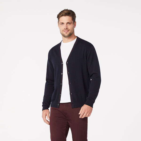 Buckingham Knitted Cardigan, Navy, hi-res