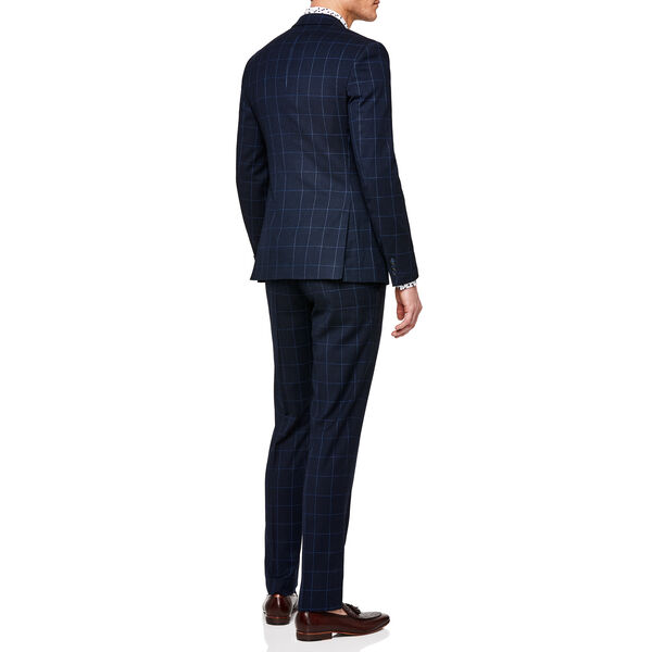 MORETTA, Navy Windowpane, hi-res