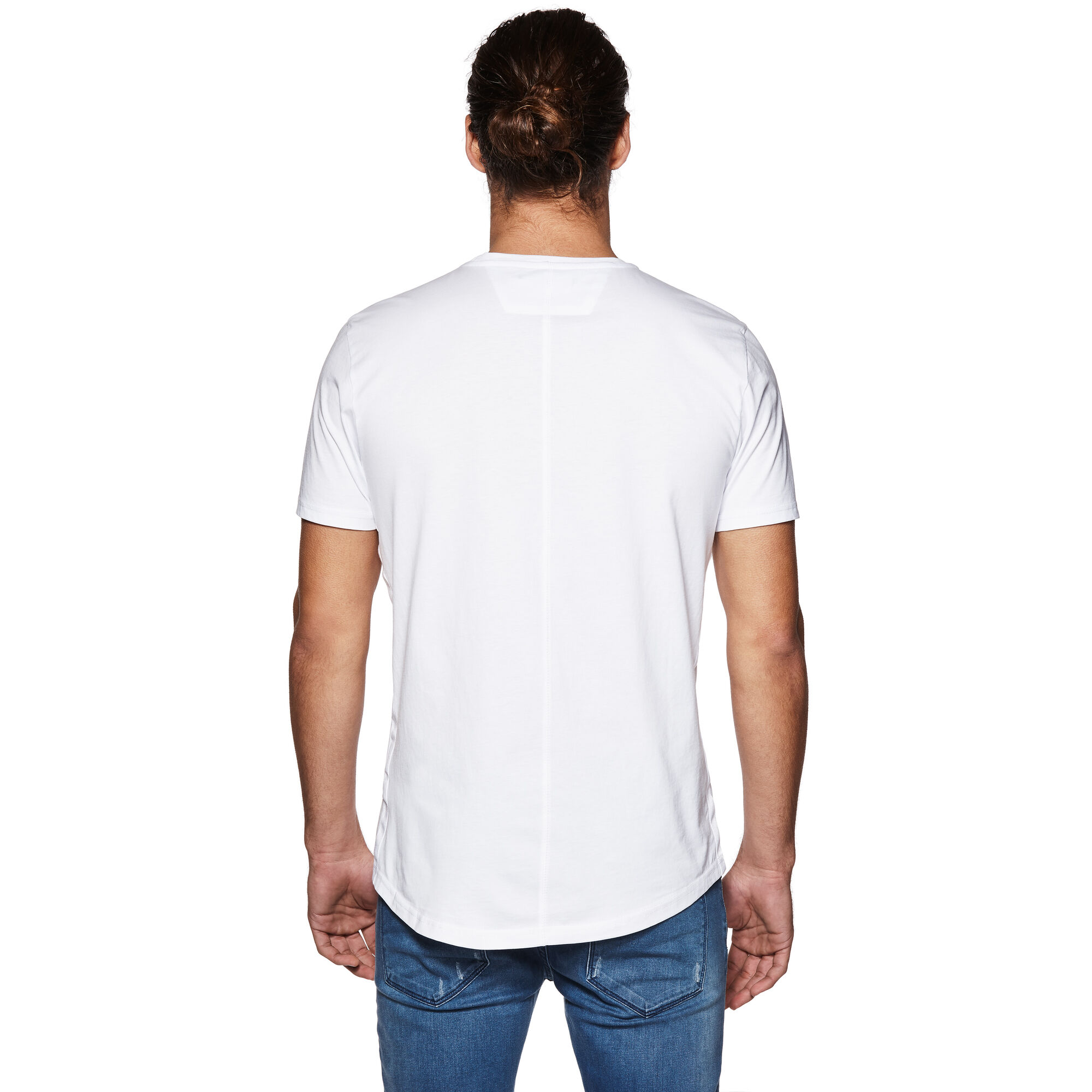Terrace white crew neck cotton tee politix for Terrace white