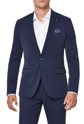HALLOWS SUIT, Blue Pin Stripe, hi-res