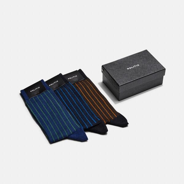Sock Set Gift Set, Colbat/Green/Tan, hi-res