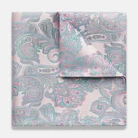 Farneto Pocket Square, Light Pink, hi-res