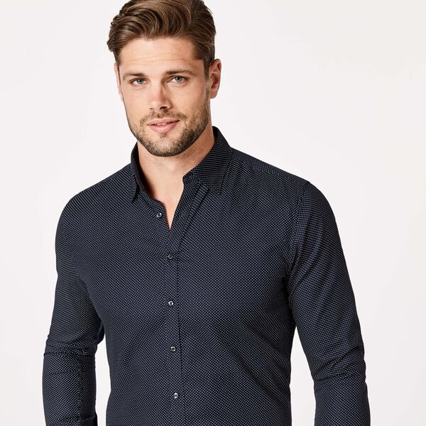DOMASO SHIRT, Navy/White, hi-res