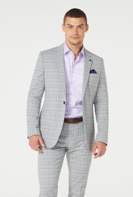 LILFORD SUIT, Light Grey Check, hi-res