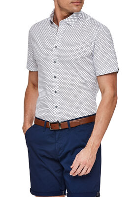 FORNI SHORT SLEEVE SHIRT, White/Blue, hi-res