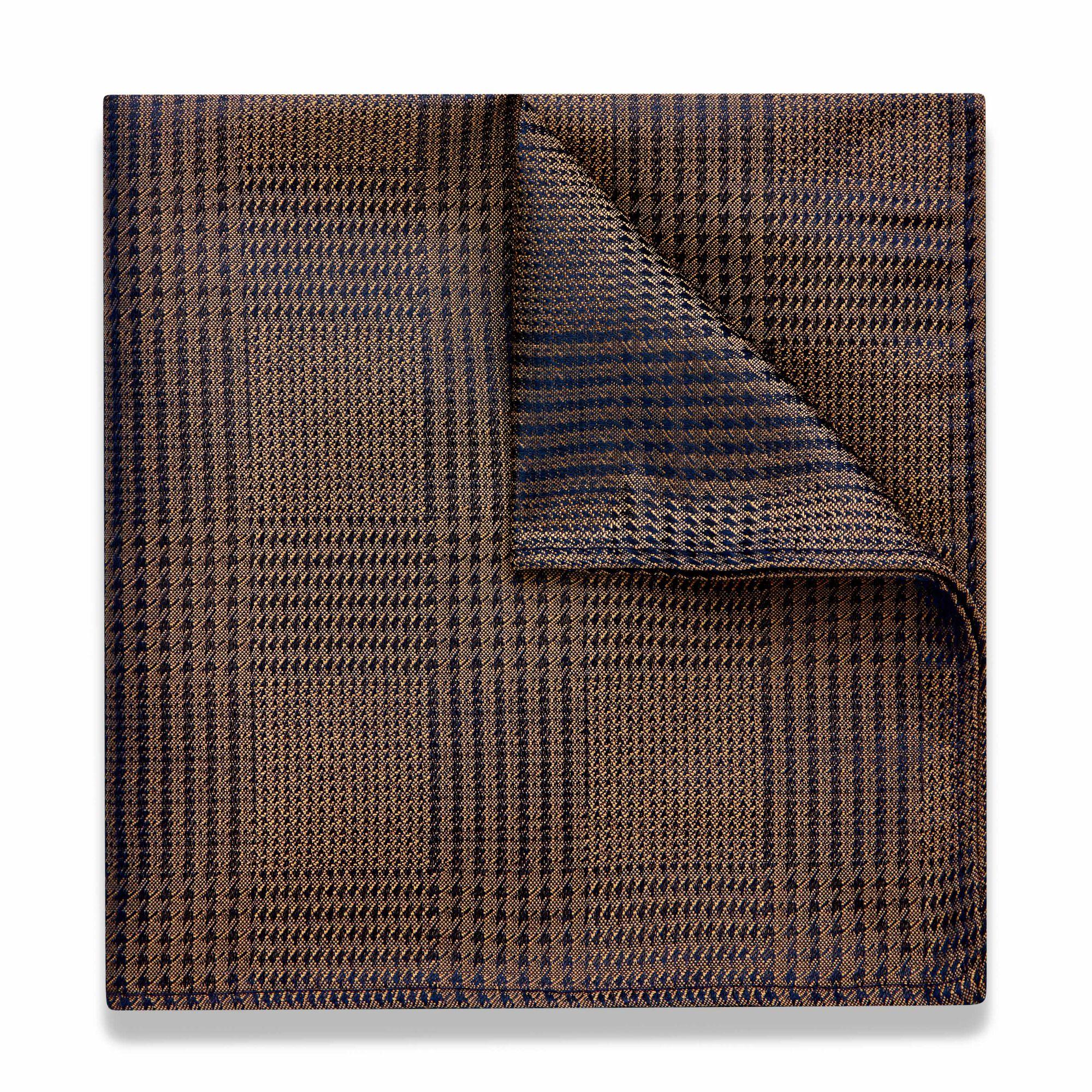 25b673193284c Narius - Gold - Two Tone Check Pocket Square | Politix