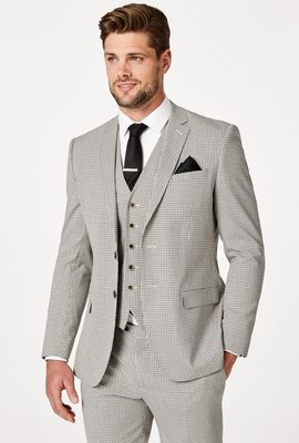 CAMERRON SUIT JACKET, Houndstooth, hi-res