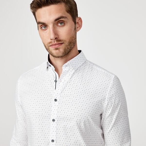 Mosina Shirt, White/Navy, hi-res