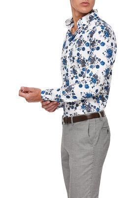 Perivale Shirt, Teal/Floral, hi-res